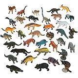 2,5cm 2,5cm en résine Lot de 12Forêt Animaux–Raton Laveur, écureuil, renard, Otter Action Figurine Jouets