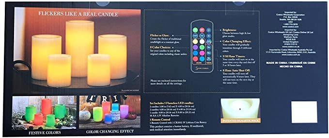 Flameless Candles With Remote Costco Custom Amazon 60 LED Wax Candles With Remote Control Color Changing