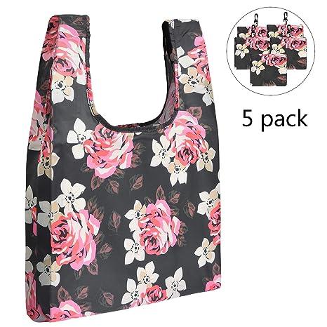 Amazon.com: LOKASS 5 bolsas reutilizables para la compra ...