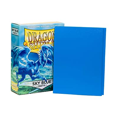 Arcane Tinman Sleeves: Dragon Shield Matte Sky Blue (60), One Size: Toys & Games