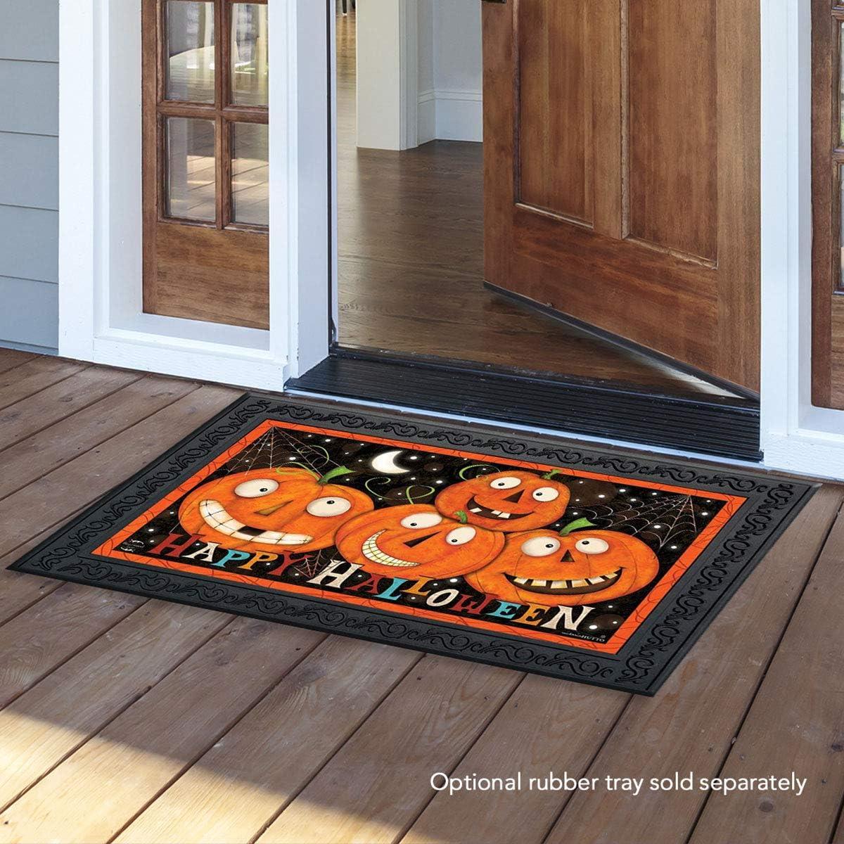 Briarwood Lane Happy Jacks Halloween Doormat Jack O Lantern Indoor Outdoor 18 x 30