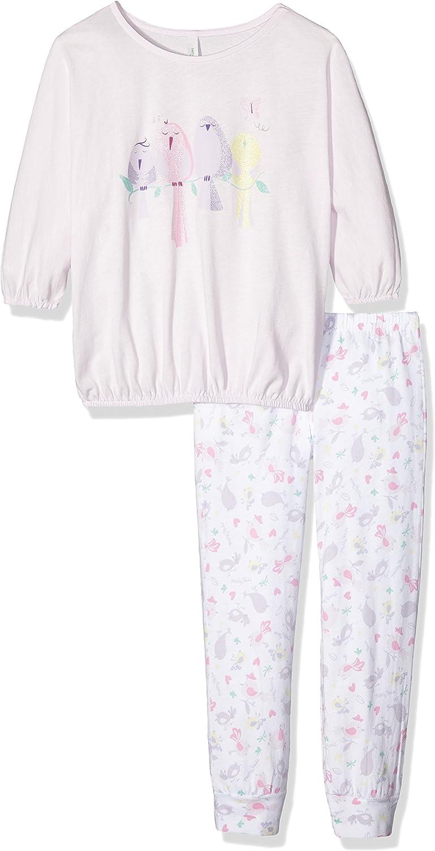 United Colors of Benetton Birds Pijama, Rosa (Pink), 7-8 Años ...