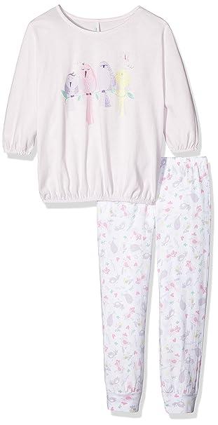 United Colors of Benetton Birds, Pijama para Niñas, Rosa (Pink), 7