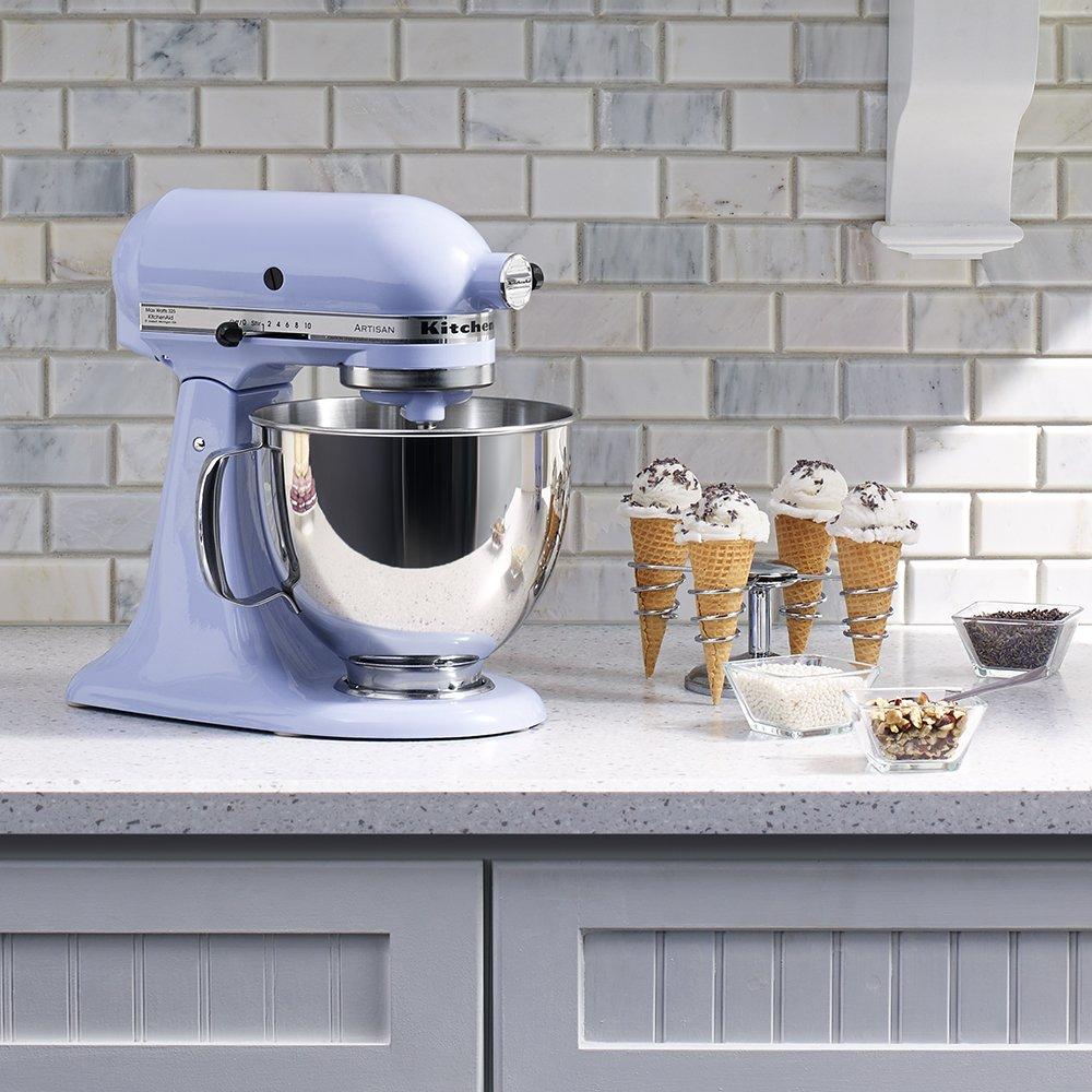 Stand Mixer with Pouring Shield KitchenAid KSM150PSTG Artisan Series 5-Qt Tangerine