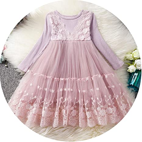 a72bd67330c Amazon.com: Princess Girls Dress 2 3 6 Year Children Long Sleeve ...