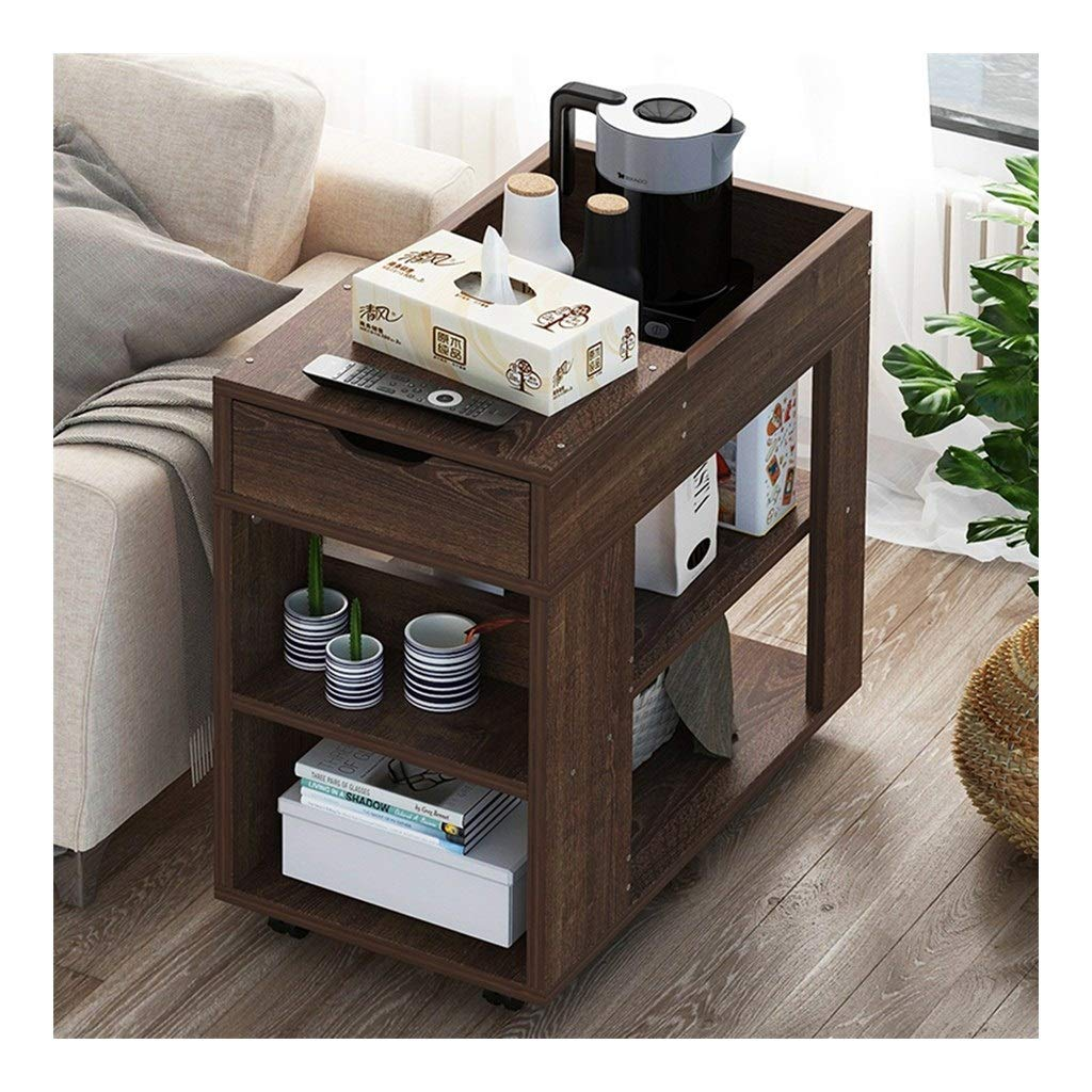WDOPZMS Simple Modern Removable Sofa Side Table with Pulley Drawer Multi-Function Storage Table Living Room Bedroom Balcony Office End Table Easy to Assemble (Color : B) by WDOPZMS