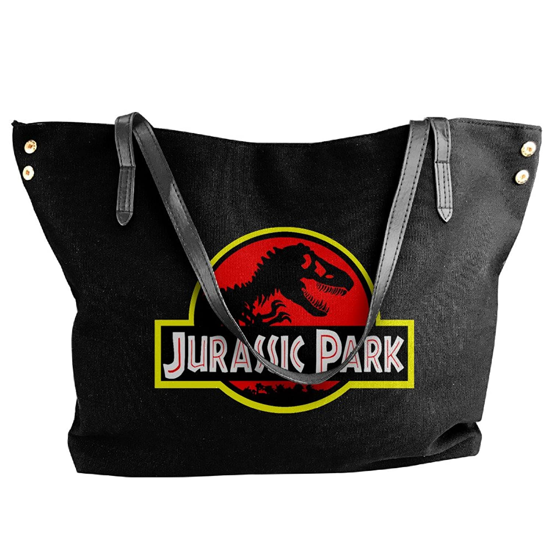 Jurassic Park Canvas Top Handle Handbags For Women