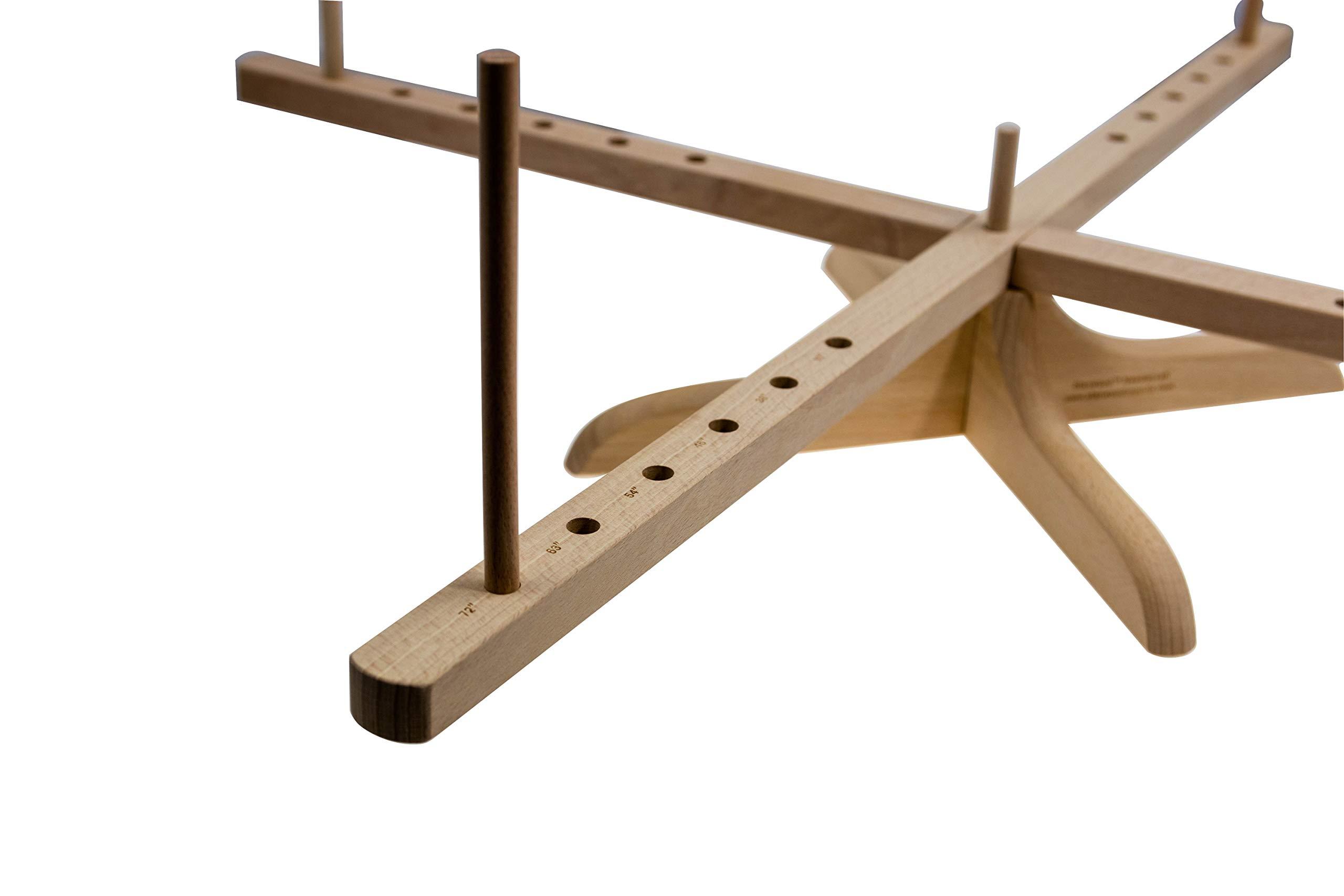 Stanwood Needlecraft Tabletop Amish Style Wooden Yarn Swift, 2.5-6-Feet (YW-3) by Stanwood Needlecraft (Image #3)