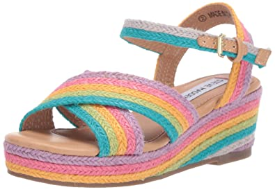 58b5f1e9bc9 Steve Madden Girls  JPAM Wedge Sandal Multi 1 M US Little Kid