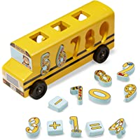 Melissa and Doug Math Bus Kid's Toy, Multi Color