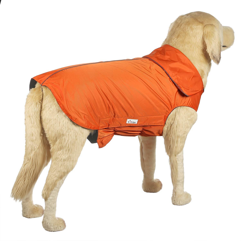 orange 4XL& xFF08;86 100LB& xFF09; orange 4XL& xFF08;86 100LB& xFF09; Hi Kiss Dog Coat Jacket Padded Vest Ski Suit Large Dogs in Cold Weather-orange 4XL