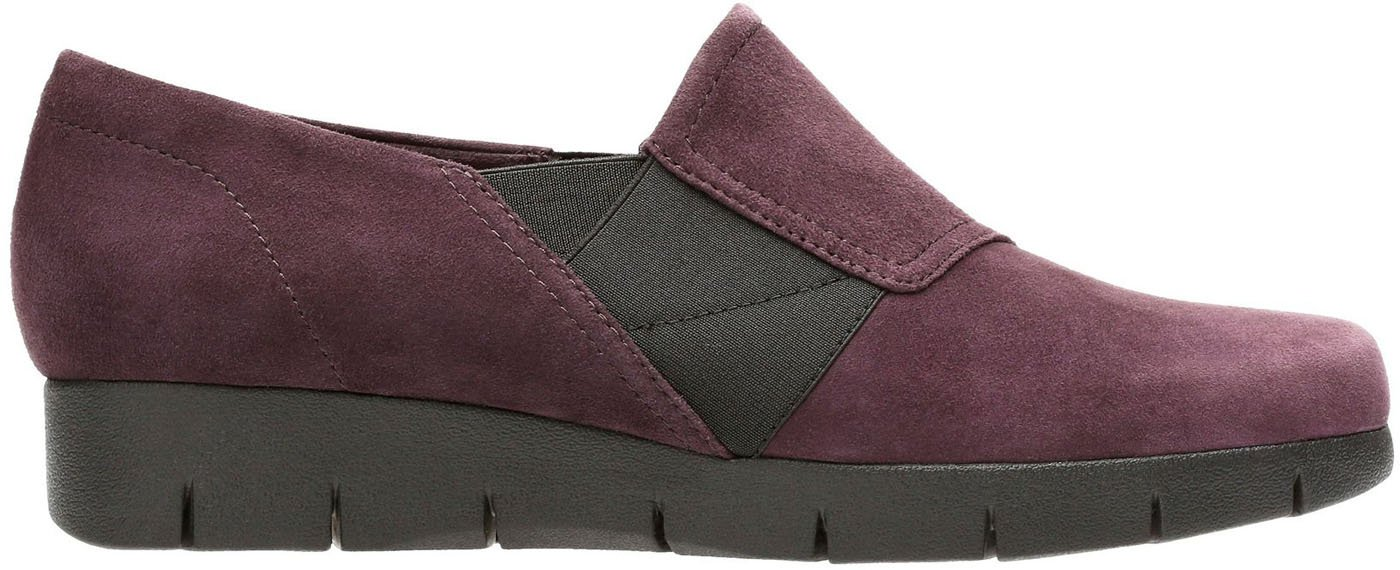 CLARKS Women's Daelyn Monarch Slip On B07766S521 10 C/D US|Aubergine