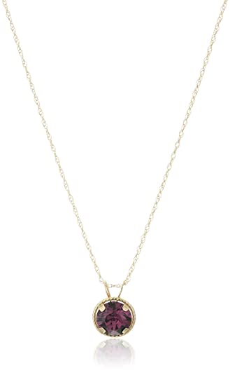 Amazon 10k yellow gold swarovski amethyst crystal pendant 10k yellow gold swarovski amethyst crystal pendant necklace 18quot aloadofball Image collections