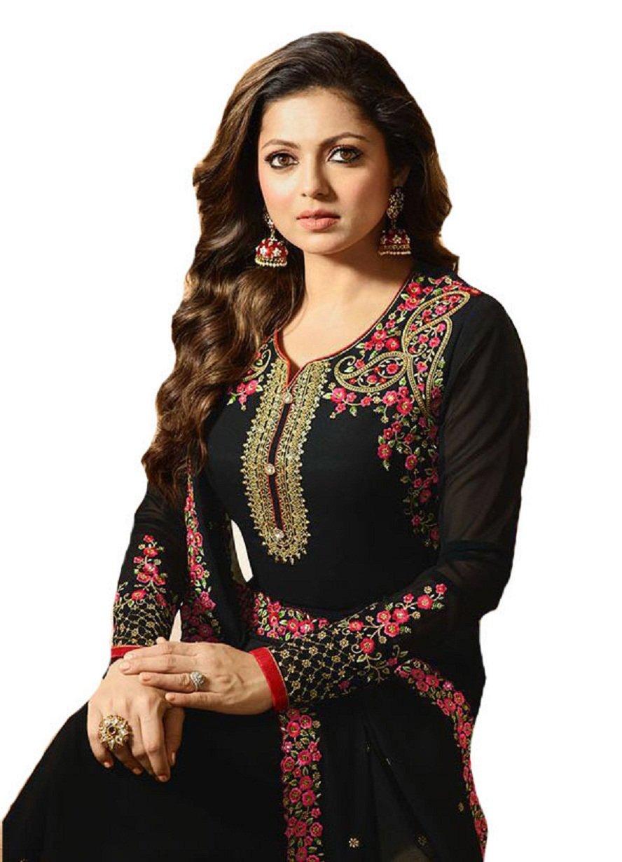 Ready Made Fashionable Designer Straight Salwar Kameez LT Nitya 2201-2208 (Black, L-42)