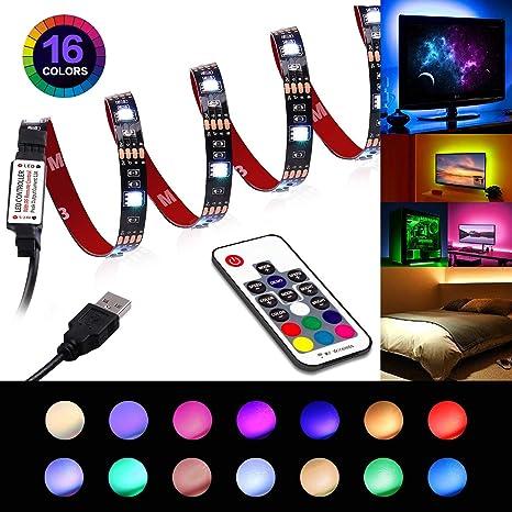 Led Strip Lights Usb Led Tv Light Strip With Remote Tv Backlight 6 56ft For 40 60in Tv 22 Modes Rgb 5050 Leds Bias Lighting For Hdtv Computer