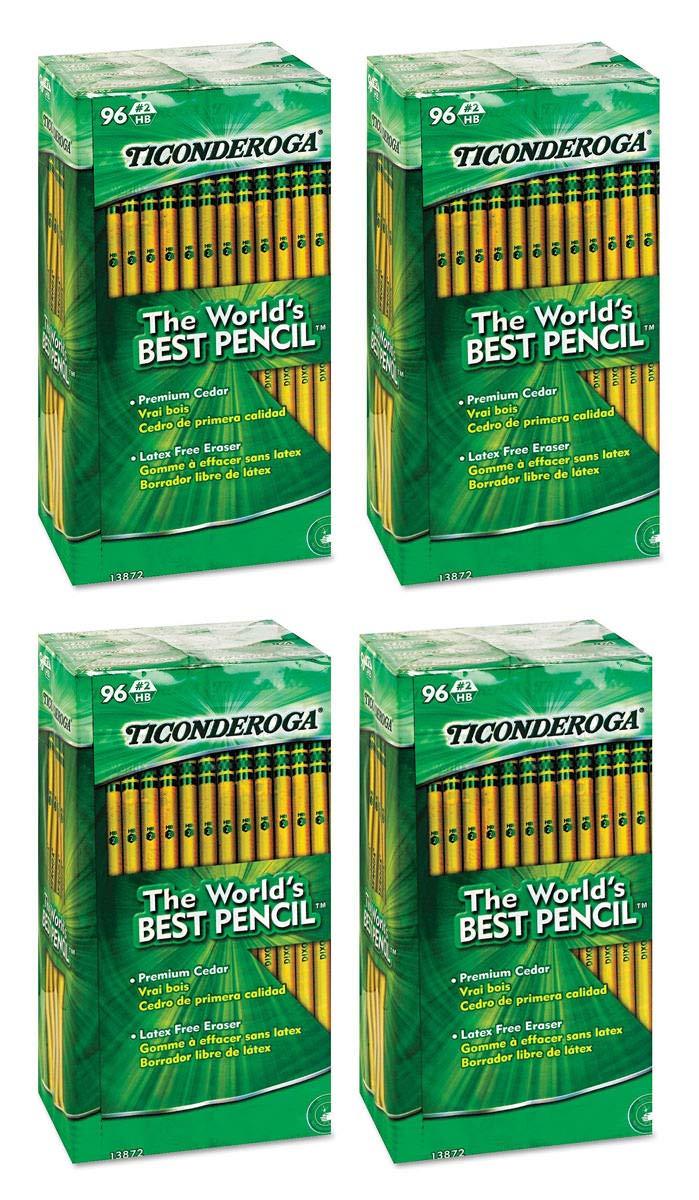Dixon SLGJHJ Woodcase Pencil, HB #2, Yellow Barrel, 96/Pack 4 Pack