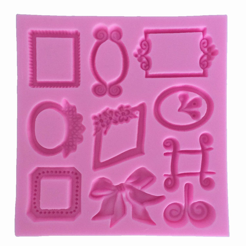 molde de silicona Forma Marcos de cuadros para fondant - Sugarcraft ...