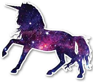 "Unicorn Sticker Galaxy Stickers - Laptop Stickers - 2.5"" Vinyl Decal - Laptop, Phone, Tablet Vinyl Decal Sticker S1240"