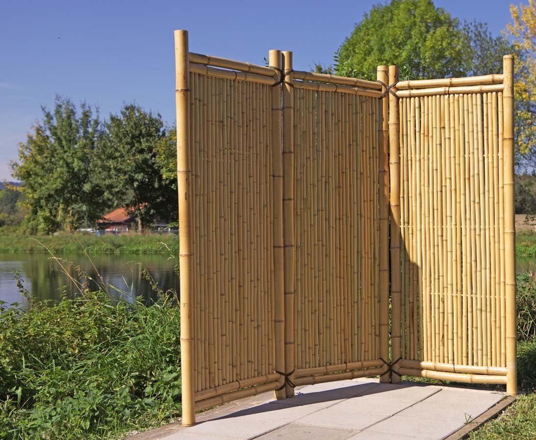 Bambus Paravent Als Raumteiler Mit 150x180cm Mobiler Sichtschutz