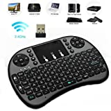 Inteset Wireless, Backlit, Mini Keyboard with Touchpad Mouse for Use with Media Streamers Including Nvidia Shield, Kodi for Windows, & Raspberry PI PCs