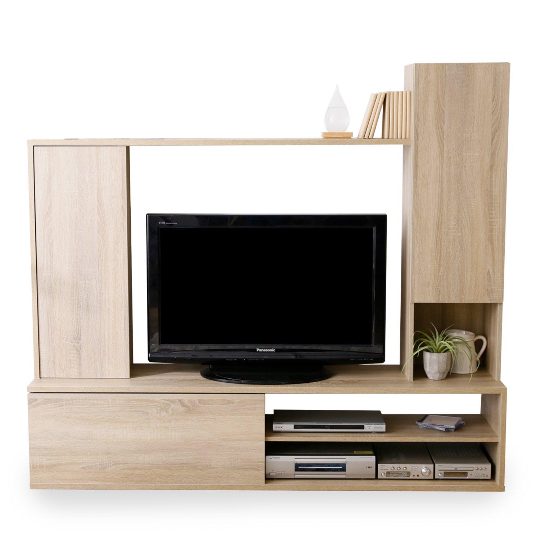 LOWYA (ロウヤ) テレビ台 壁面収納 ヨーロッパ デザイン 大容量収納 可動棚 リアル木目 ~42型対応 ナチュラル おしゃれ 新生活 B01N6Z1SZ3 Parent