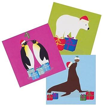 Wwf Weihnachtskarten.Amazon De Wwf Pinguin Eisbär Und Sea Lion Animal Weihnachtskarten 15