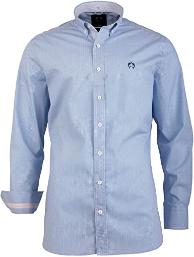 Señor Camisa Color Azul Claro siehe Beschreibung M: Amazon.es ...