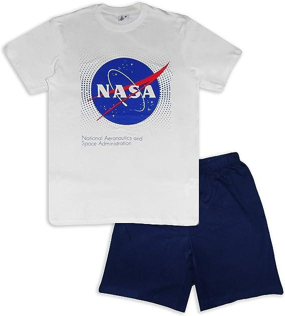 Nasa - Pijama corto para hombre (algodón): Amazon.es: Ropa y accesorios