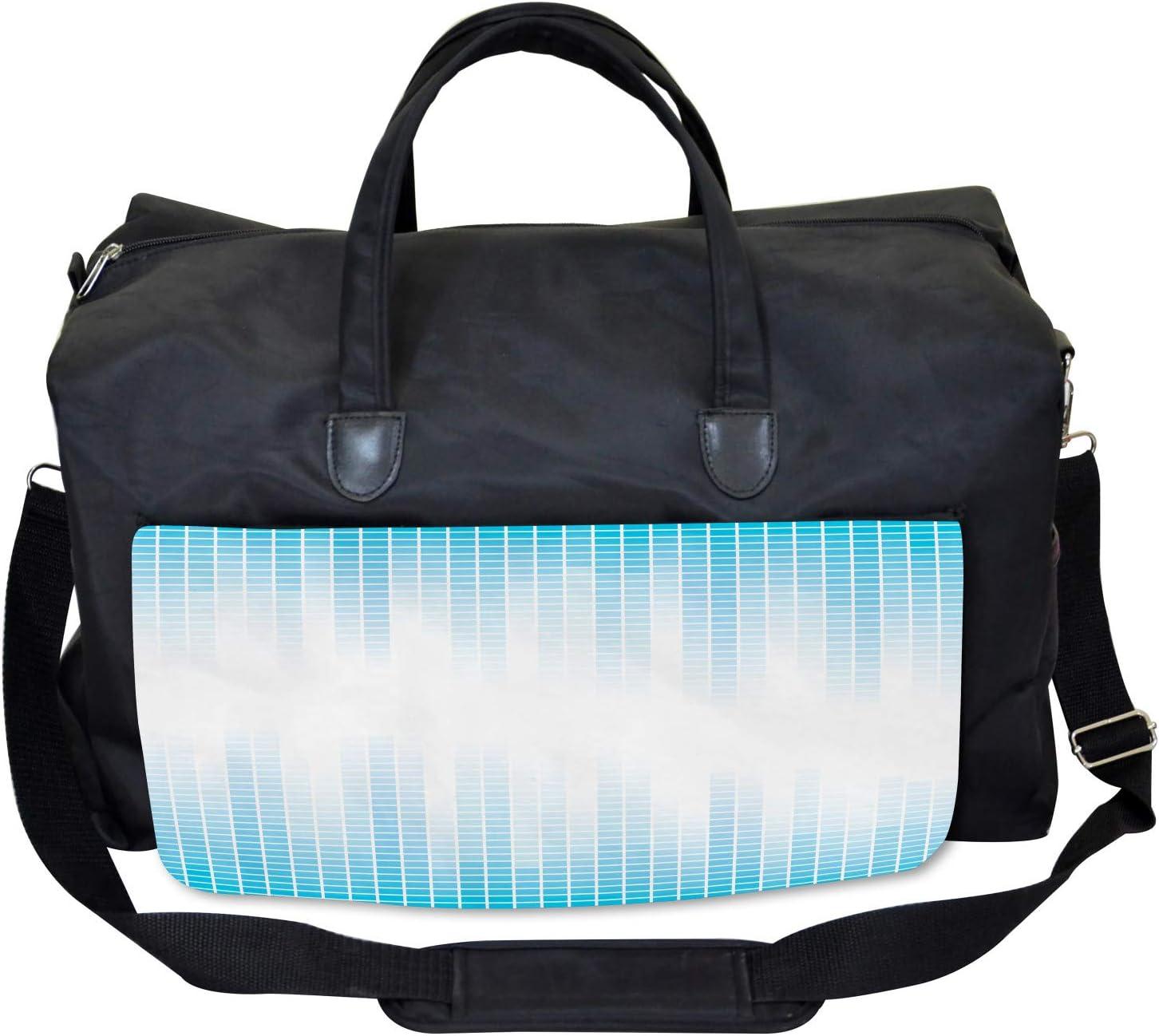 Ambesonne Modern Gym Bag Geometric Squared Design Large Weekender Carry-on