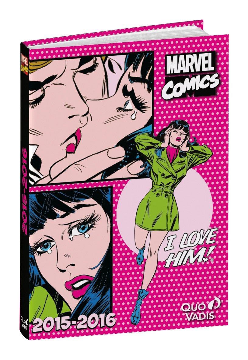 Marvel Comics-Agenda escolar, diseño de niña, 2015 y 2016 ...