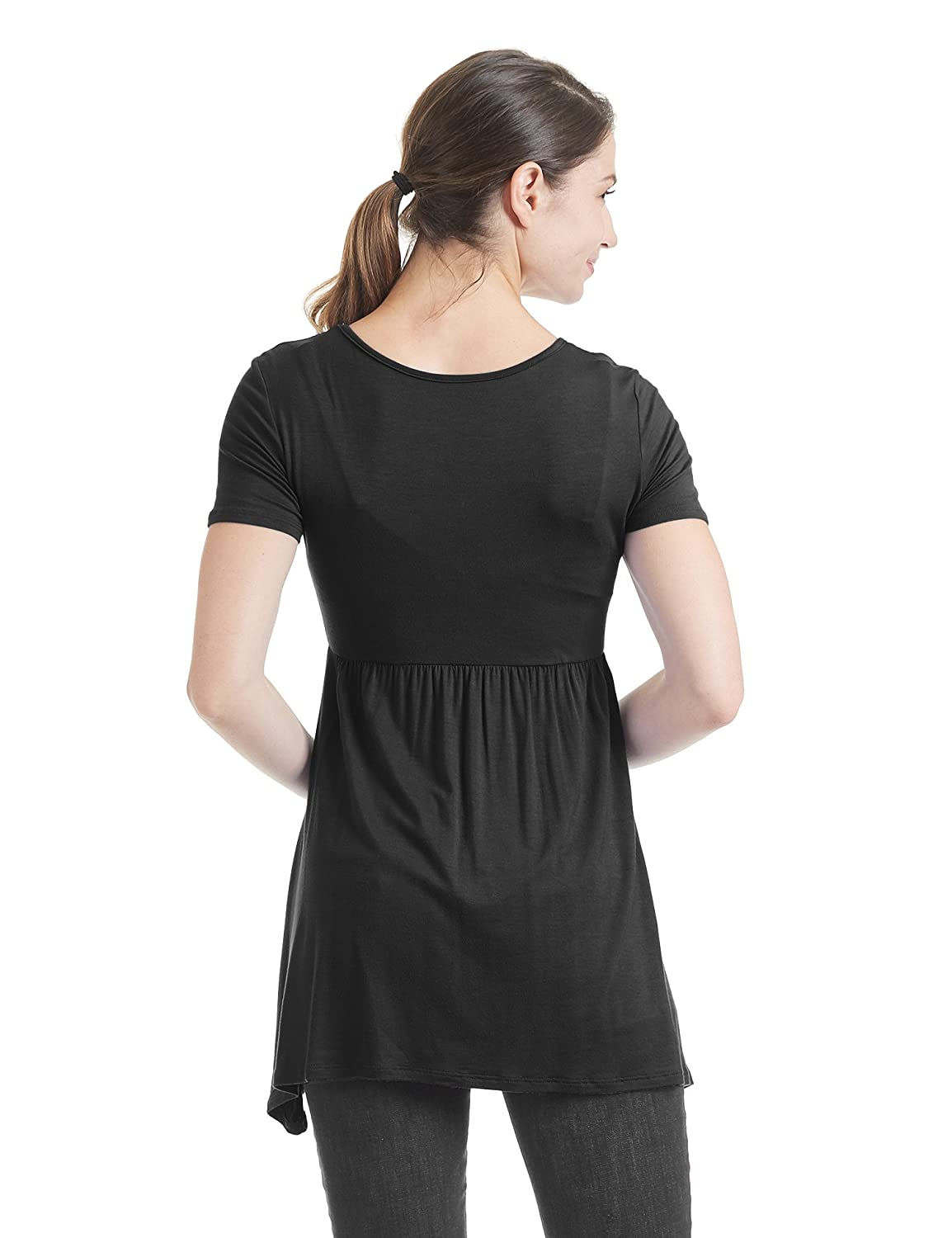Come Together California CTC Womens Short Sleeve Ruched Center Top Made in USA