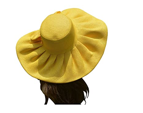 51cb249c8da 2017 Linen Summer Hat Women Kentucky Derby Wide Brim Sun Hat Wedding Church  Sea Beach Hats for Women Floppy Ladies Hat with Bow