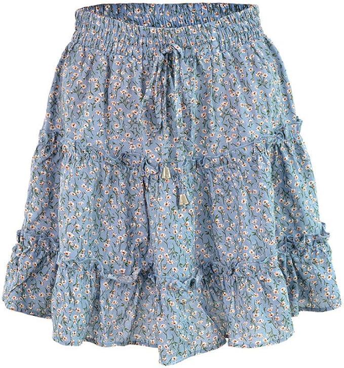 JJDSL Damenröcke, Strand-Blumenrock, lässig, modisch
