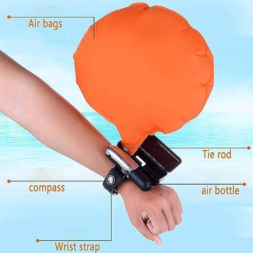 SUKILIU Wristband del Flotador, Dispositivo de Seguridad Inflable del Dispositivo de Rescate Portable, Dispositivo de Ayuda de la flotabilidad del Agua para ...
