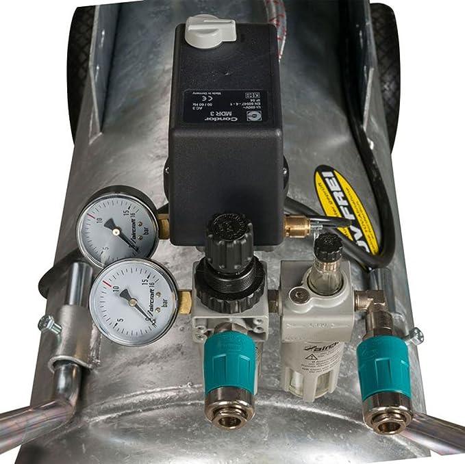 Aircraft AIRPROFI 553/100 - Móvil Compresor De Pistón Para Herramientas con dos Cilindro de v de aggregat: Amazon.es: Bricolaje y herramientas