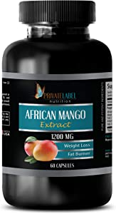 Supplements for Weight Loss and Metabolism - African Mango Extract 1200 MG - Weight Loss, Fat Burner, antioxidant - Apple Cider Vinegar Capsules Weight Loss - 1B (60 Capsules)