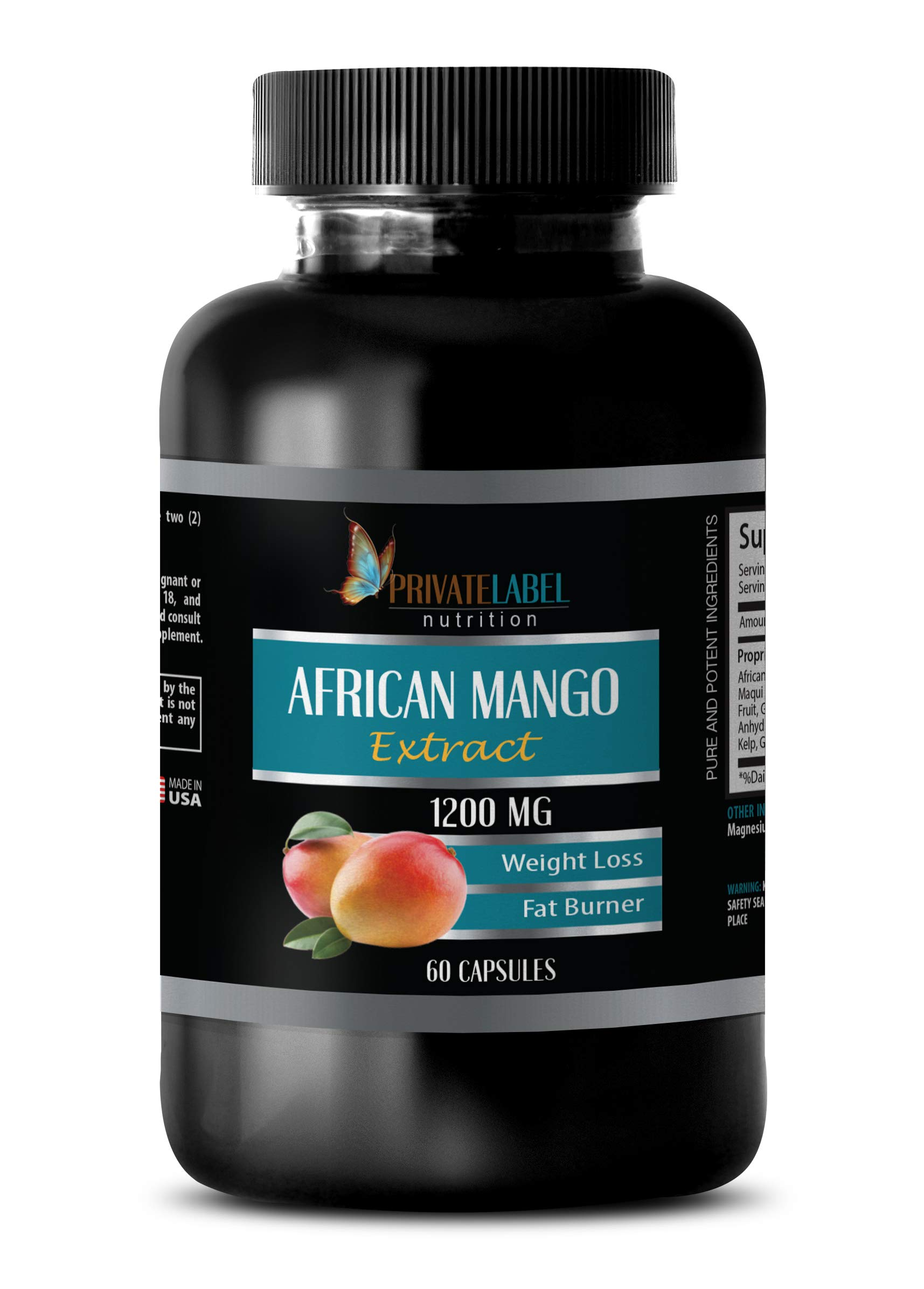 Fat Burner Energy Booster for Men - African Mango Extract 1200 MG - African Mango Fruit - 1 Bottle (60 Capsules)