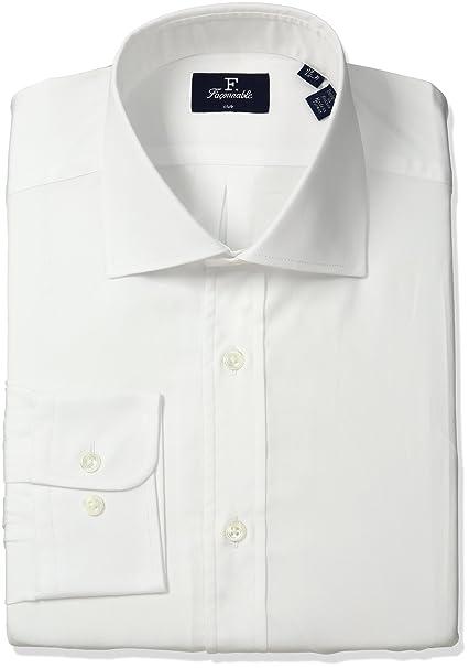 Amazon.com: Façonnable Hombre Club Fit vestido camisa ...