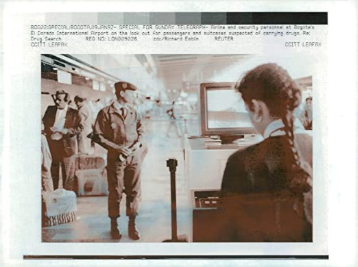 Amazon.com: Vintage photo of airline and security personal at bogotas: Entertainment Collectibles