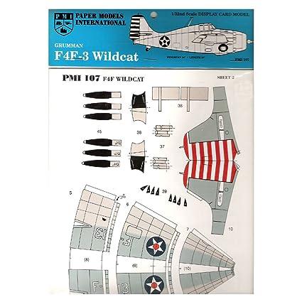 Amazon com : 1990 PMI Paper Models International Grumman F4F
