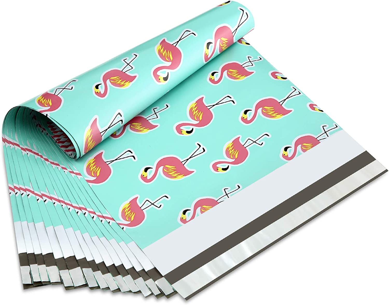 - Boutique Shipping Supplies 40 piece set Colorful Printed Mailing Envelopes Designer PolyMailers 10x13 Bulk Variety Pack Mailing Envelope Bundle: Flamingo Peacock Pineapple
