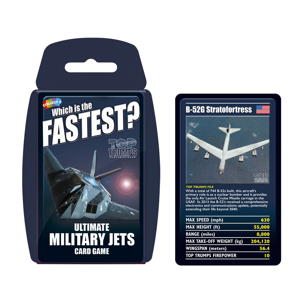 Top Trumps Rules >> Ultimate Military Jets Top Trumps Card Game