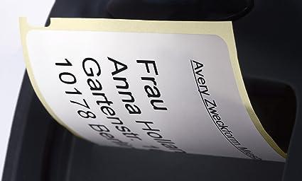 Avery-Zweckform ASS0722430 color blanco 101 x 54 mm, 110 etiquetas Cinta de etiquetas