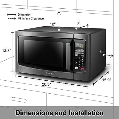 Toshiba EM131A5C-BS Horno microondas con sensor inteligente, 1.2 ...