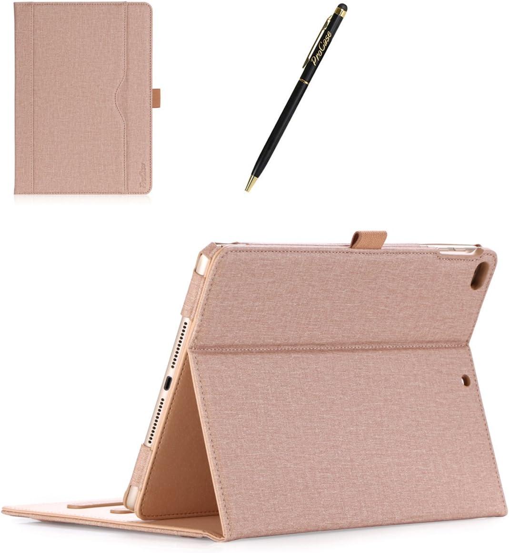 ProCase Coque iPad 6 /Étui Cuir PU 9.7 Pouces Housse Case de Protection Livr/é avec Un Stylet de ProCase avec Multiples Angles iPad Air 2 iPad Air 1 Sommeil//R/éveil Automatique-Gris iPad 5