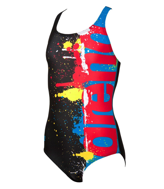 Arena Da bambina Scrittore Costume Da Bagno - Rosa/Multi-colore, 10 - Nera/Multi, 24 1A760