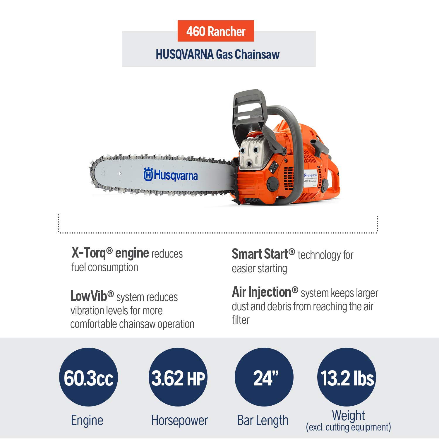 Husqvarna 460 Rancher Chainsaws product image 2