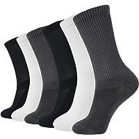 MD 6 Pack Soft Men and Women Antibacterial Bamboo Fiber Crew Casual Socks