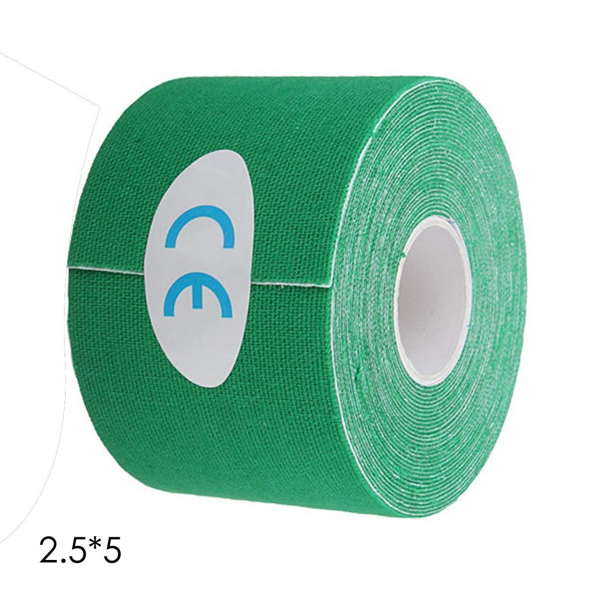 Leyeet Sports キネシオロジーテープ サイオマッスルストレイン 怪我サポート KTスポーツ 5/2.5cm20m  Green5*5cm B07KLHNSFZ