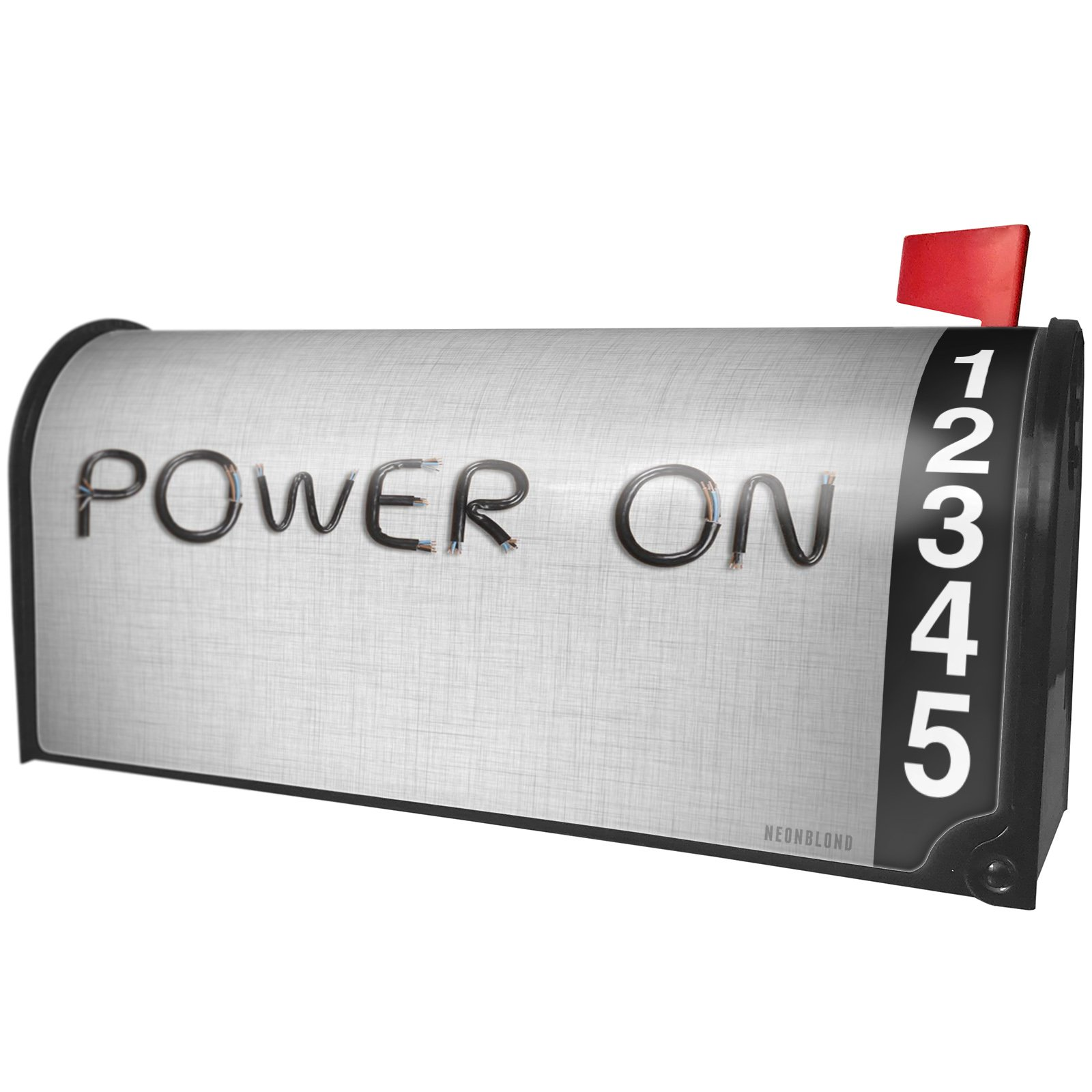 NEONBLOND Power On Electronics Wires and Cables Magnetic Mailbox Cover Custom Numbers